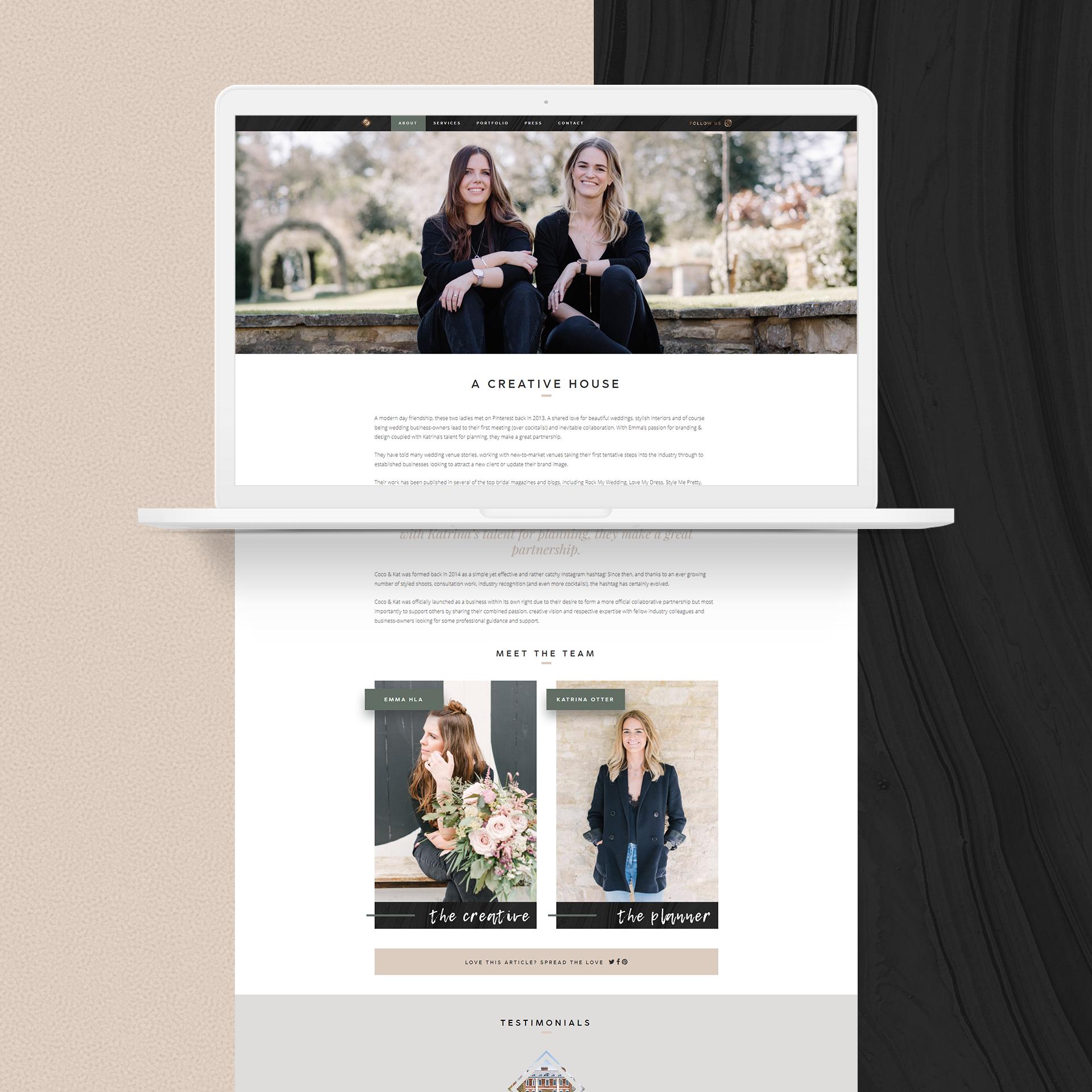 Coco & Kat - Web Design