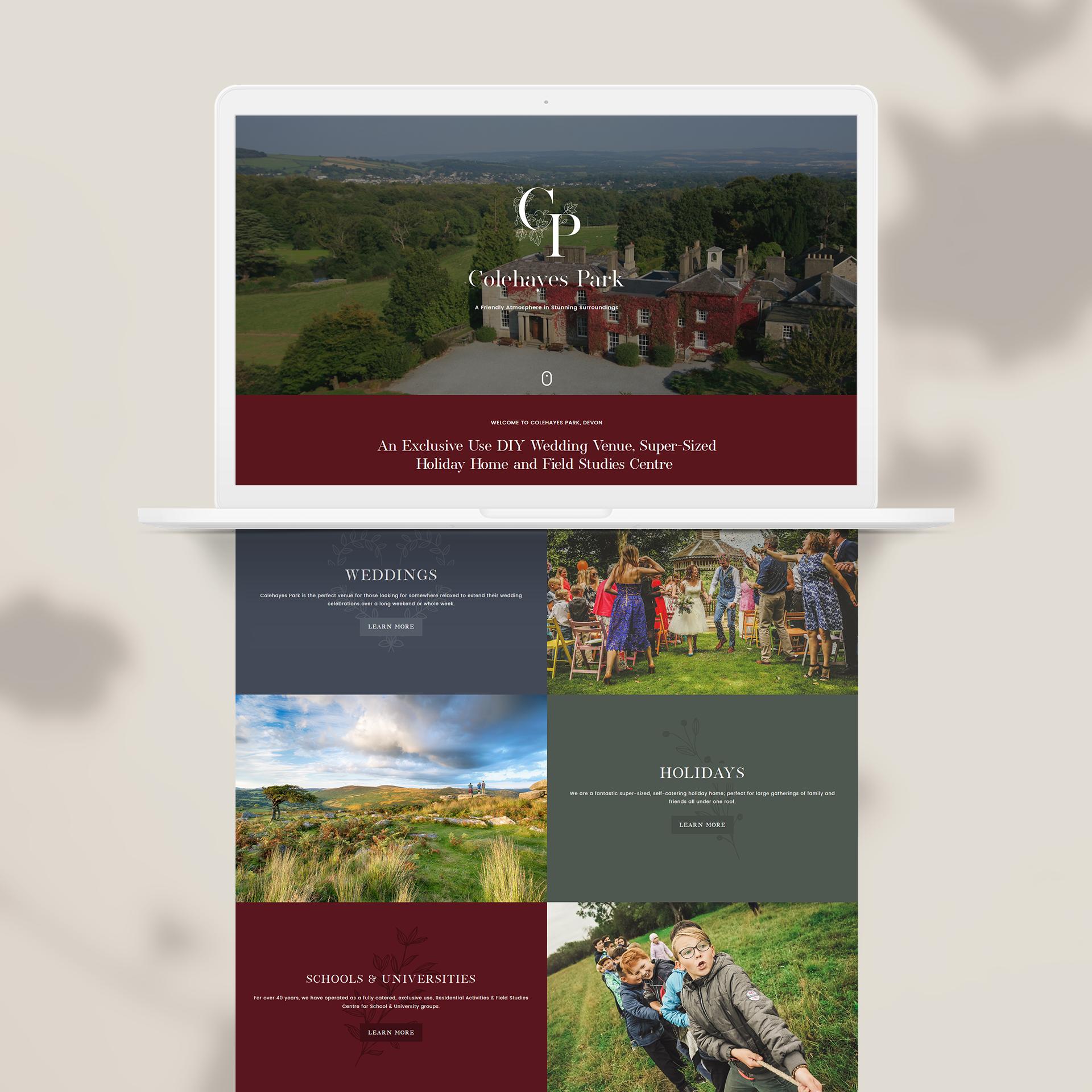 Colehayes Park - Web Design