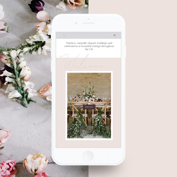 Katrina Otter Weddings - Mobile Design