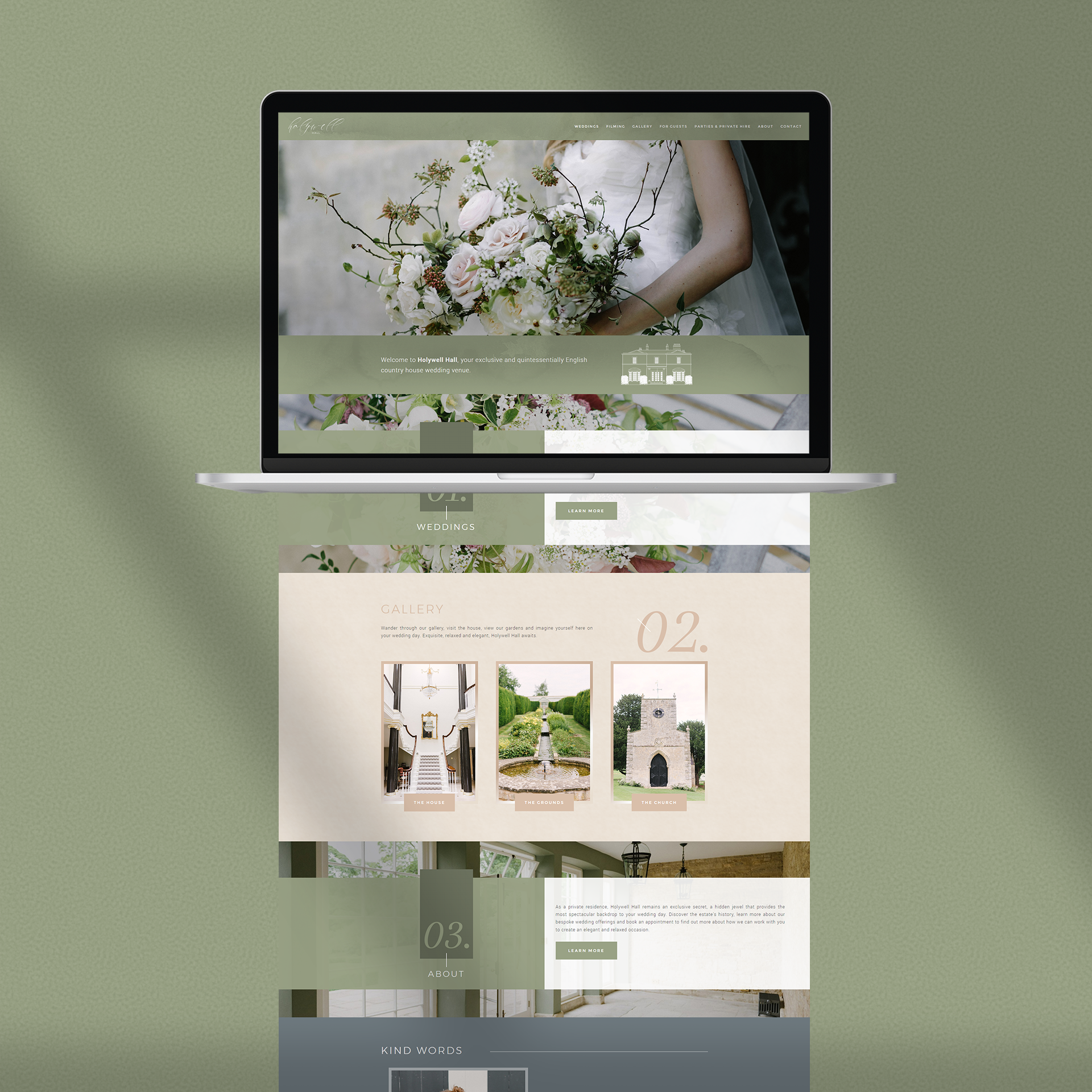Holywell Hall - Website Design