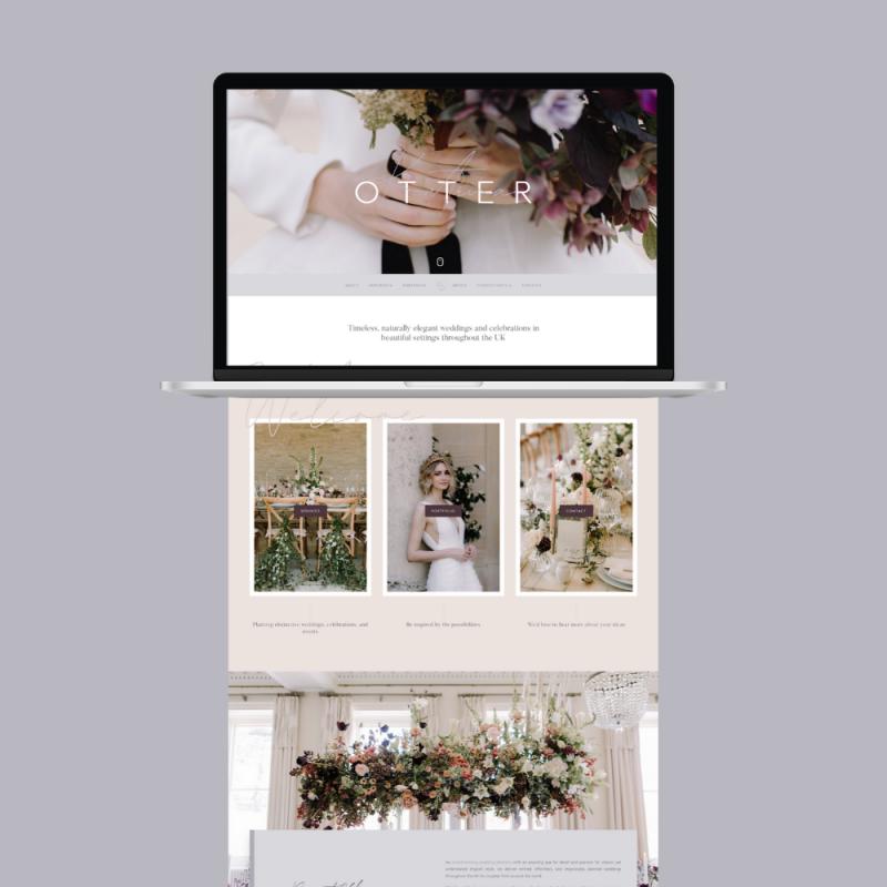 Katrina Otter Weddings - Web Design by Pixel Debris