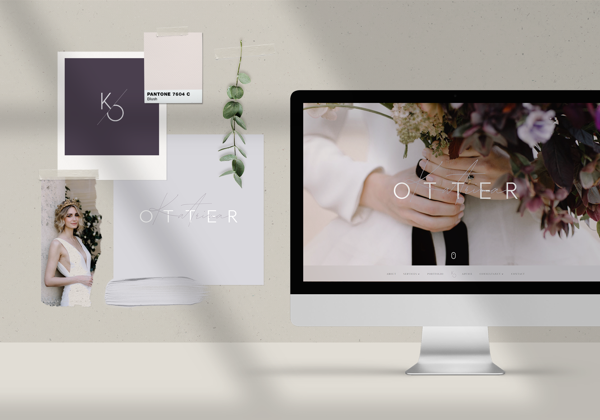 Branding and Web Design for Katrina Otter Weddings