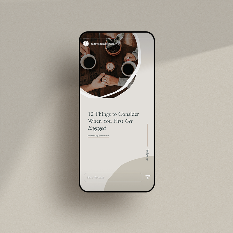 Instagram Story Template Design for Coco Wedding Venues