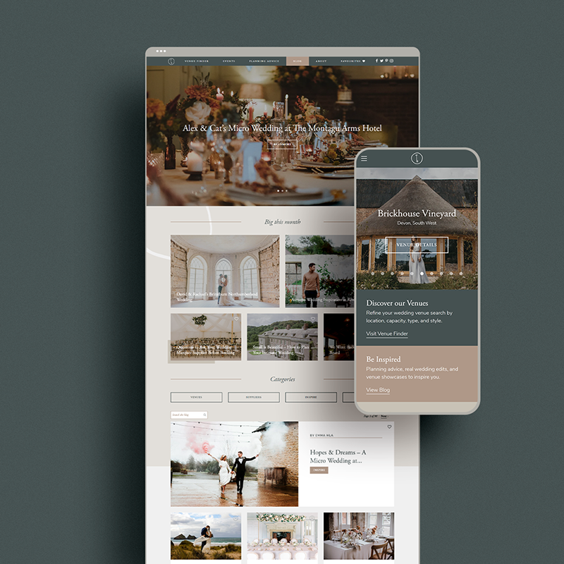 Web Design for Coco Wedding Venues